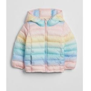 BABY GAP OMBRÉ PUFFER JACKET SIZE 4T